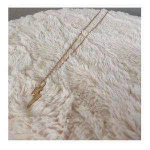 Jewelry - LIKE NEW   Lightening Bolt Gold Necklace